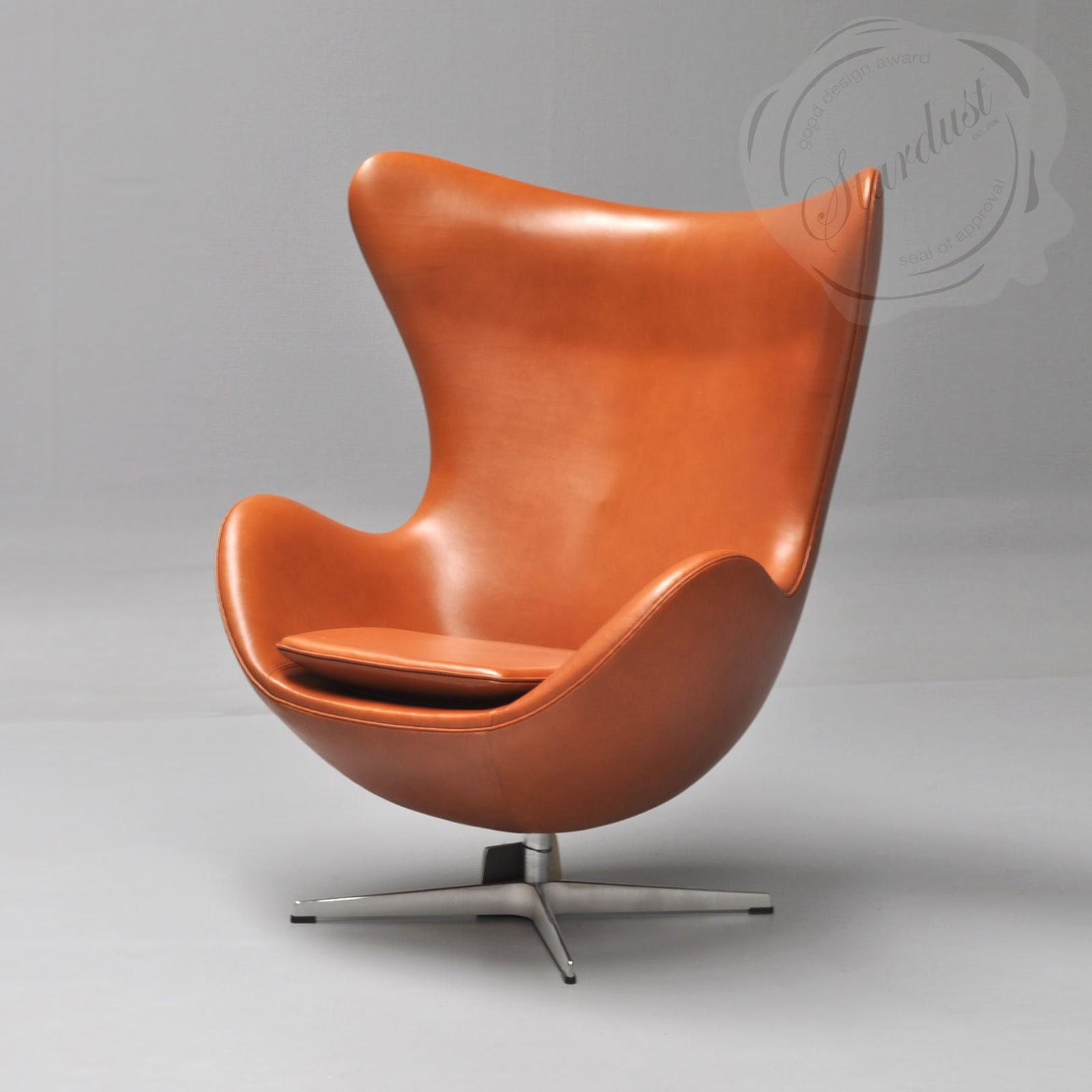 Egg Chair Cognac.Egg Fritz Hansen Leather Chair
