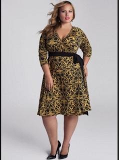 model baju dress batik untuk orang gemuk