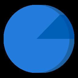 Pi Chart Folder Icon