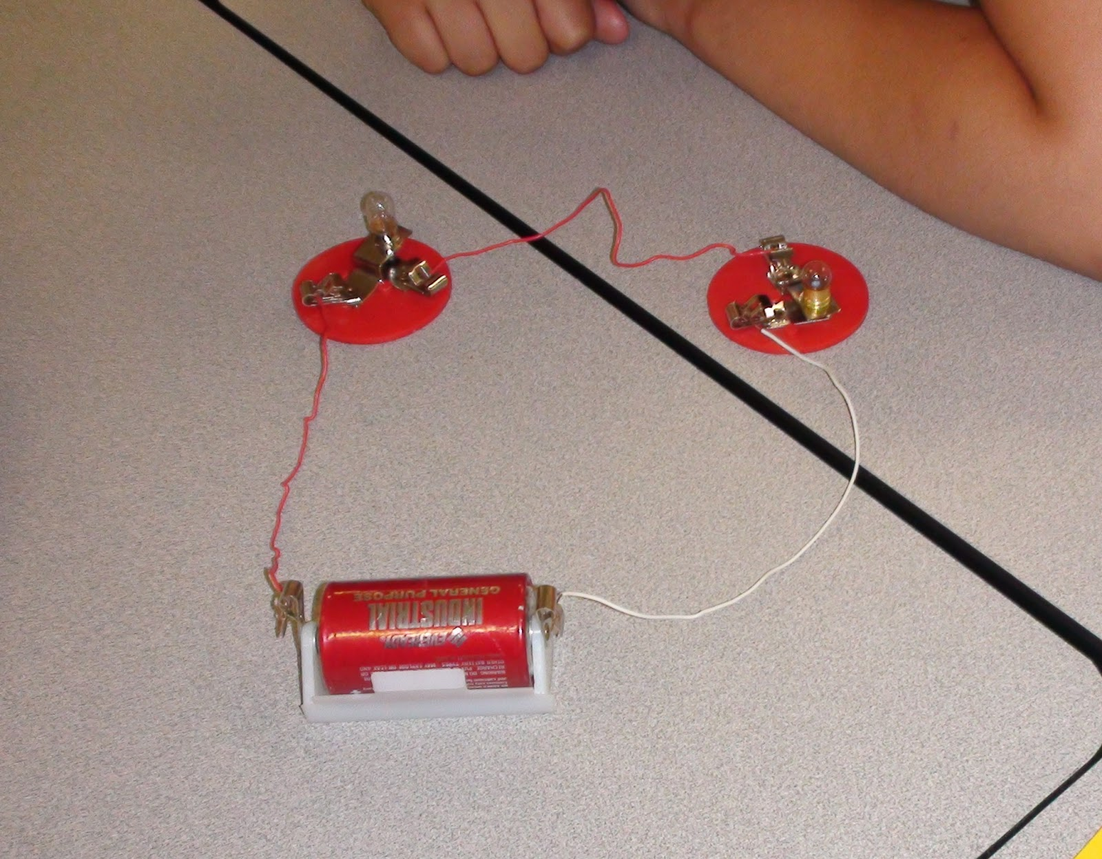 Every student group was successful in getting their circuits to work  properly. They started out making series circuits and drawing a diagram in  their ...