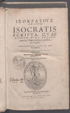 Isokratous Apanta, 1570