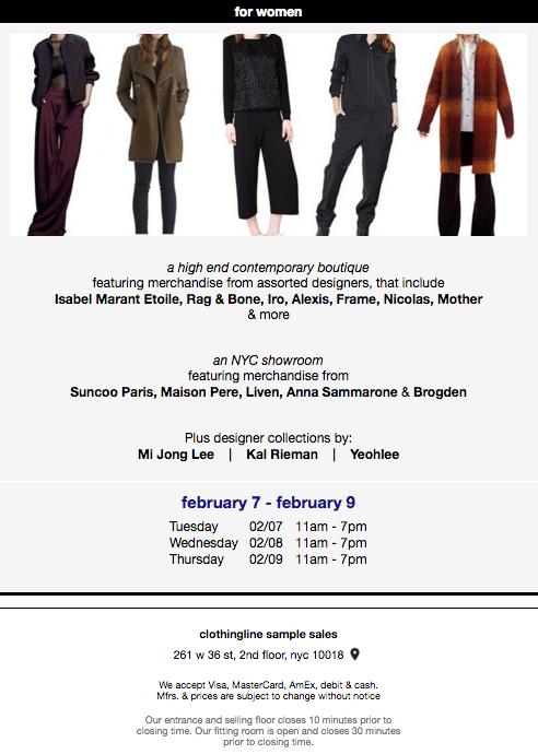 fashionably petite: Designer Sample Sale at Clothingline - 2/7 - 2 ...