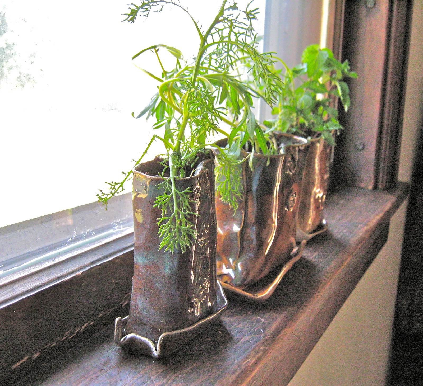 AntB Pottery: Windowsill Planters