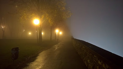 Image of Bergamo: Venetian walls and fog.