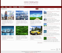 Red Gremble Blogger Responsive Templates