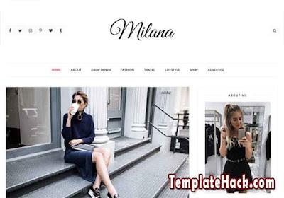 milana blogger template