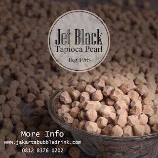 jet black tapioca pearl bubble drink jakarta surabaya semarang