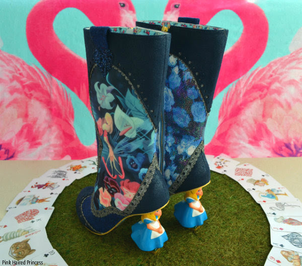 Irregular Choice Alice Lost Your Muchness boots back view