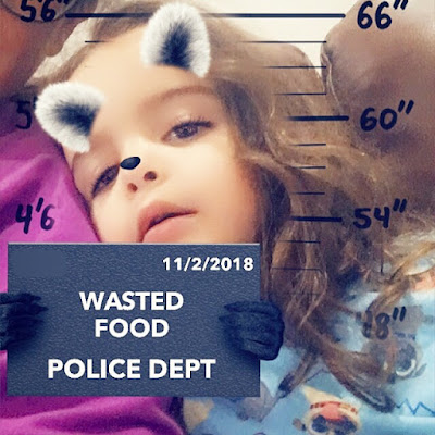 A little girl accused of wasting good via a snapchat filter