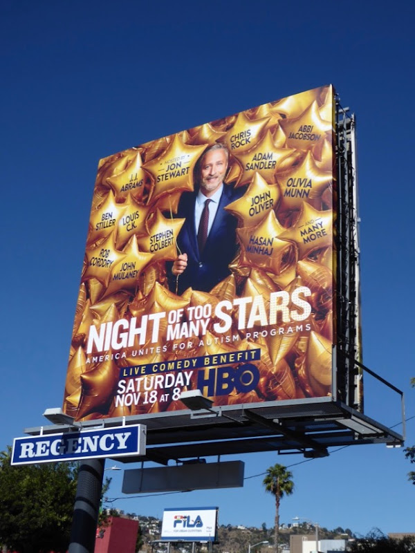 Night of Too Many Stars billboard