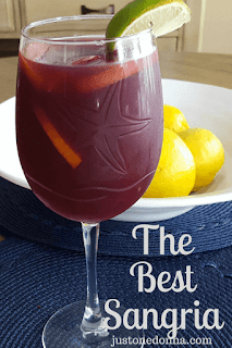 The Best Red Wine Sangria with Rum