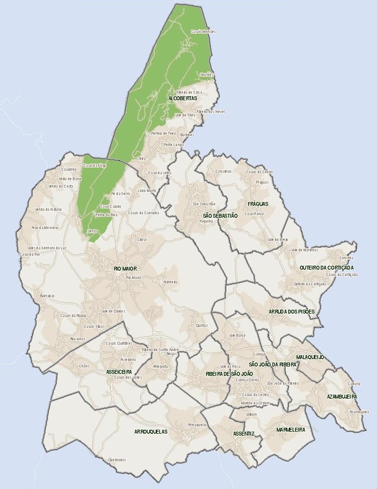 mapa do concelho de rio maior Rio Maior Mapa   thujamassages mapa do concelho de rio maior
