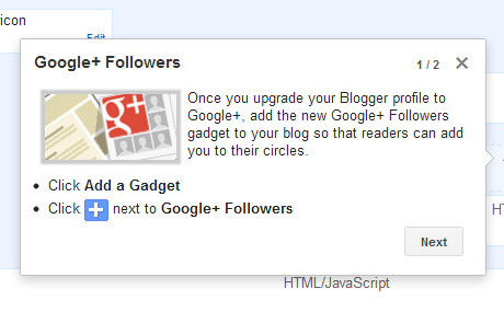 Cara pasang Gadget Google+ Followers
