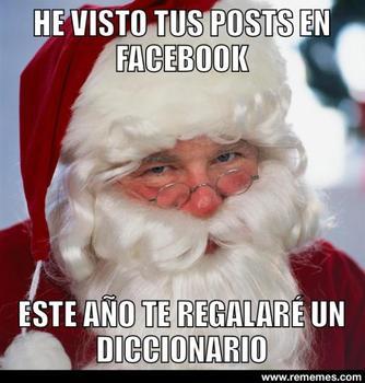 santa meme navideño