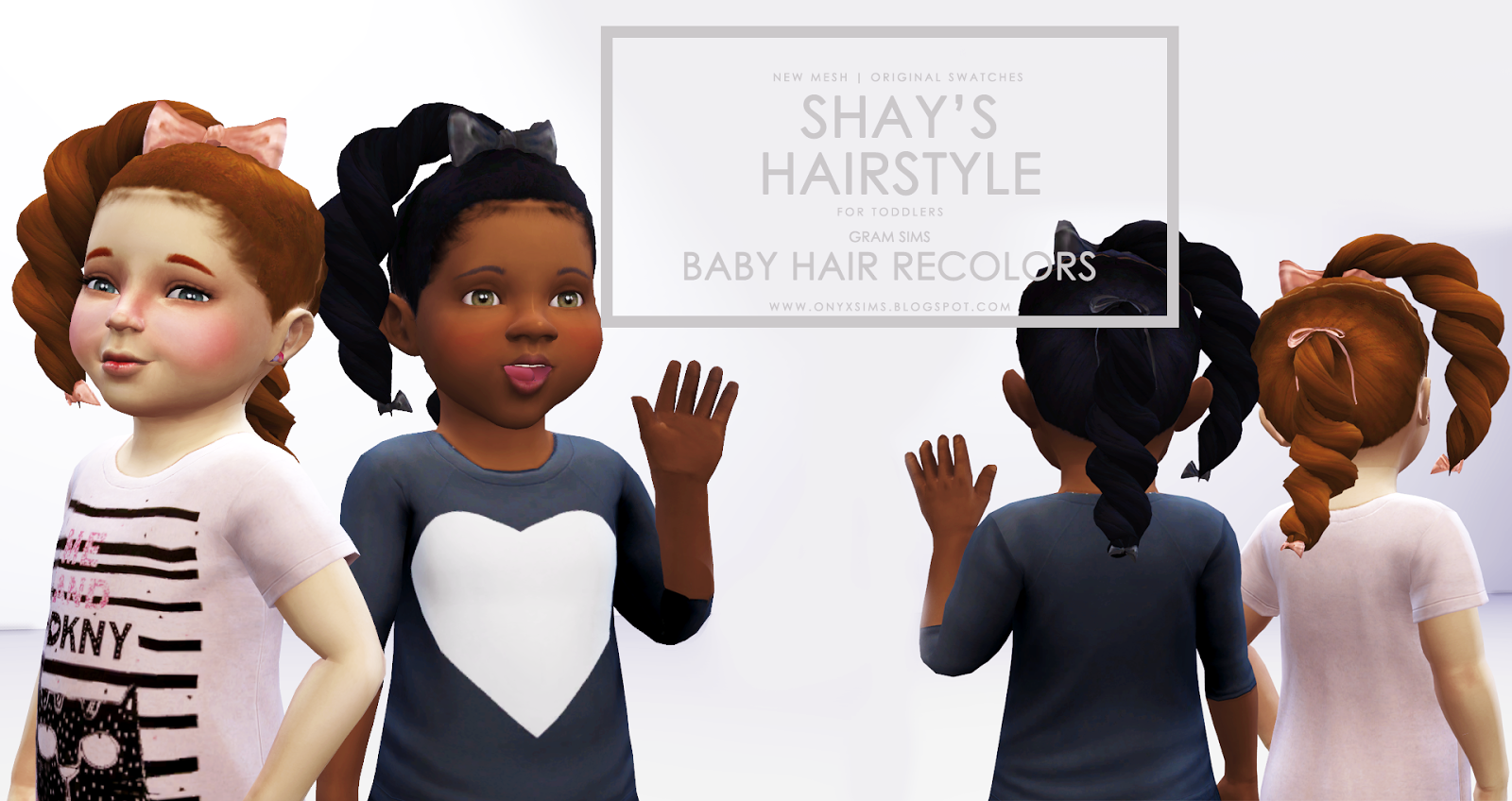 Shay S Hairstyle For Toddler Girls Onyx Sims