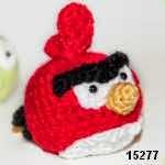 patron gratis pajaro rojo angry bird amigurumi, free amiguru pattern red bird angry bird