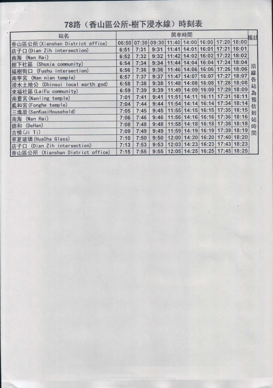 An A B C S Guide To Hsinchu Hsinchu City Free Bus Schedule