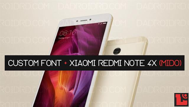 Cara Ganti Font Xiaomi Redmi Note 4X tanpa ROOT MIUI 9