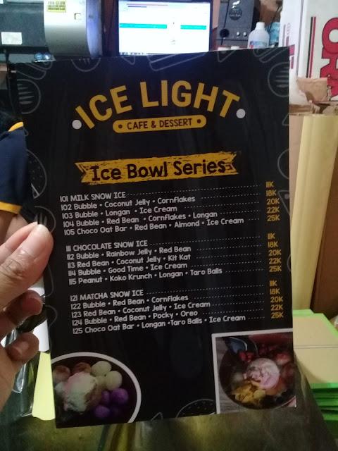 Menu Ice Light Desert Bar Corel Draw cover Hasil Cetak Cover