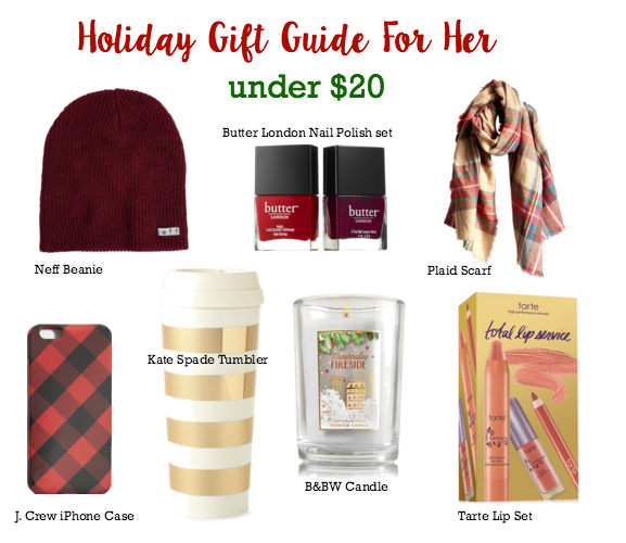 under $20 holiday gift ideas for her