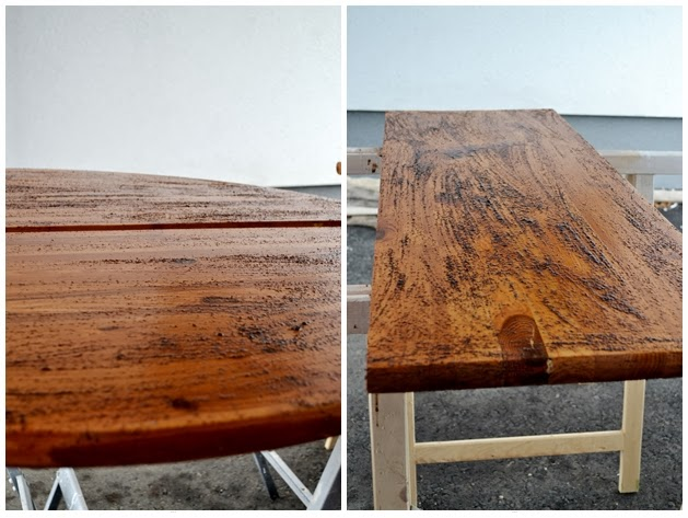 tisch aus alt wird neu creativlive. Black Bedroom Furniture Sets. Home Design Ideas