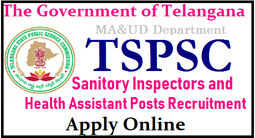 TSPSC Sanitory Inspectors and Health Assistant Posts in Telangana Muncipal and Urban Development Dept - Get Details Telangana Muncipal and Urban Development Department Sanitary Inspectors 35 Vacancies and Health Assistance 50 Posts recruitment Notification is out. Check here for Eligibility critrea Educational and Professional Qualifications Selection Procedure Examination Pattern Syllabus and Schedule for Online Application Form Download of Hall Tickets Exam Dates Centrs Initial final Key and Results Download here Applications are invited Online from qualified candidates through the proforma Application to be made available on Commission's WEBSITE (www.tspsc.gov.in) to the post of Sanitary Inspector in Municipal Administration and Urban Development Department in the State of Telanagana and Health Assistant Posts tspsc-muncipal-department-sanitory-inspectors-and-health-assistant-vacancies-eligibility-qualifications-online-application-form-tspsc.gov.in-hall-tickets-answer-key-results-merit-list-download TS Muncipal and Urban Development Dept Recruitment/2018/08/tspsc-muncipal-department-sanitory-inspectors-and-health-assistant-vacancies-eligibility-qualifications-online-application-form-tspsc.gov.in-hall-tickets-answer-key-results-merit-list-download.html