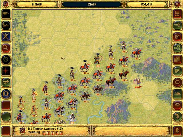 Begin mission  | Fantasy General Screenshot