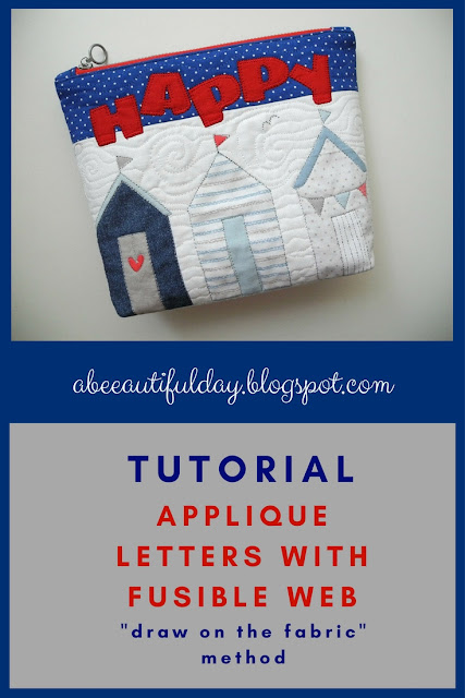 Method for Applique letters with fusible web -Tutorial