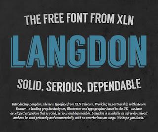 Langdon Free Font Terbaik Untuk Desain Pakaian Distro
