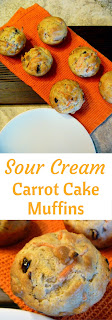 Sour Cream Carrot Cake Muffins - The BEST muffin EVER! Tender and moist muffins are perfect for Easter morning or at a sweet and savory Brunch. - Slice of Southern
