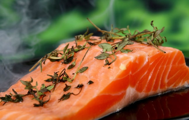 Salmone ricco di omega 3