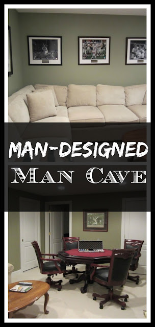 Man Designed Man Cave in the basement - the one room I let my husband design!