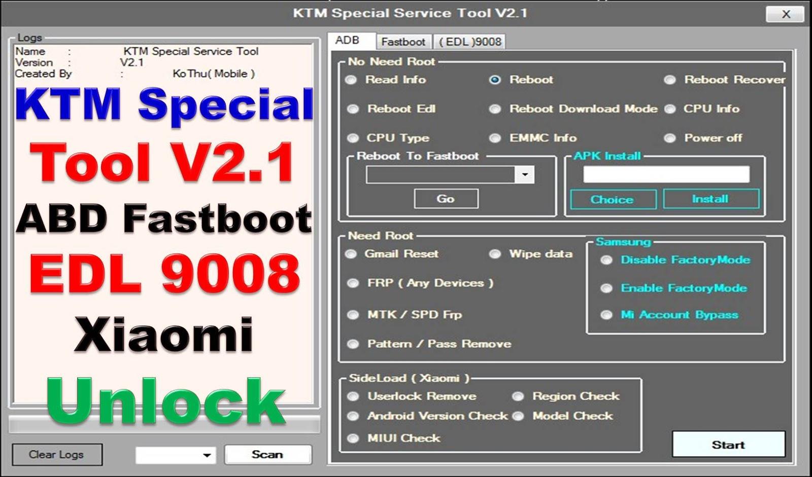 KTM Special Service Tool V1 2 Fastboot ADB EDL9008 Xiaomi