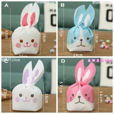 Rabbit Plastic Bags / Plastik Pembungkus Souvenir Kelinci (Besar)