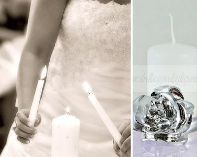 idee per un matrimonio civile il rito delle candele