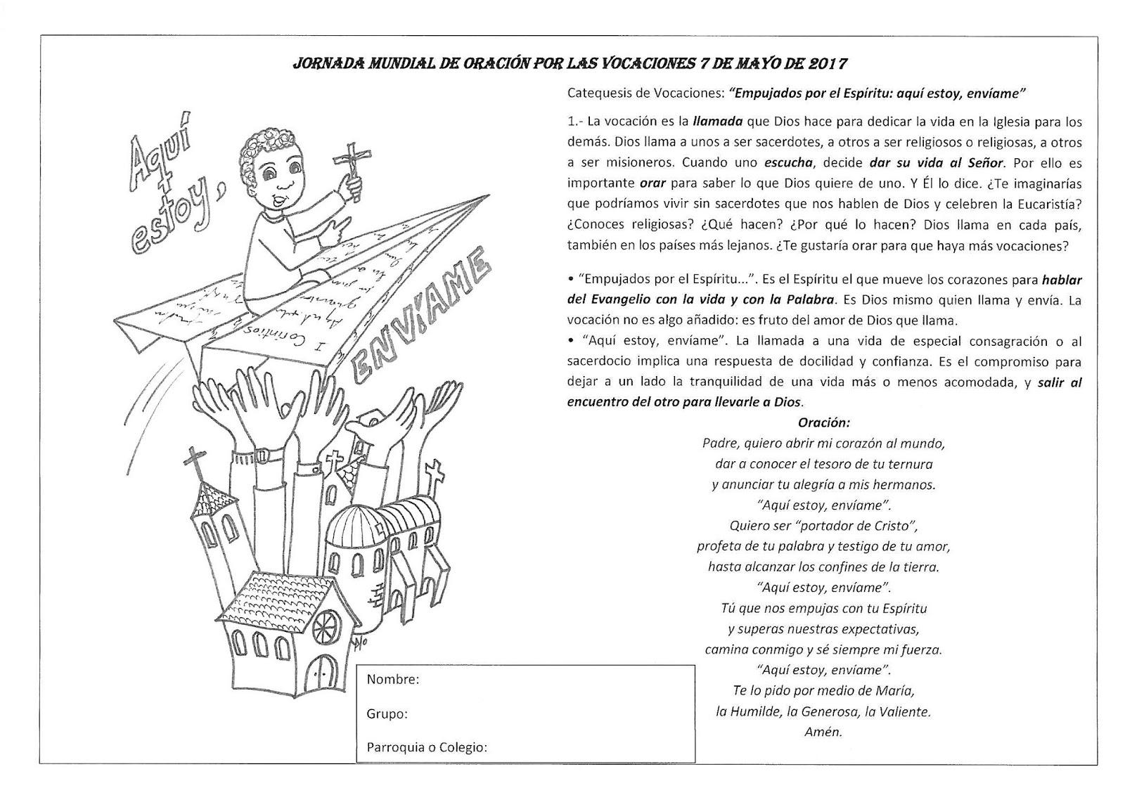Las Misiones Y Los Niños Dibujos Para Colorear De Niños: Catequesis Oración Por Las Vocaciones Para Niños