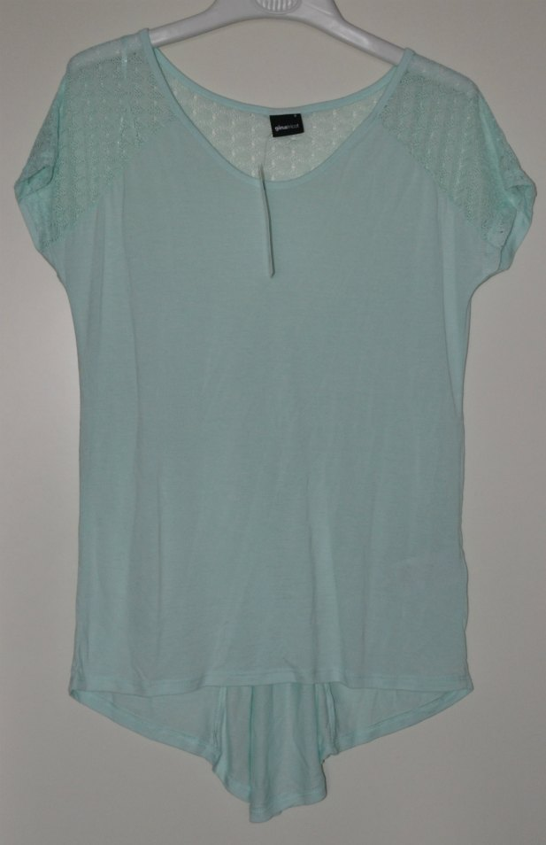 mint green top from Gina Tricot