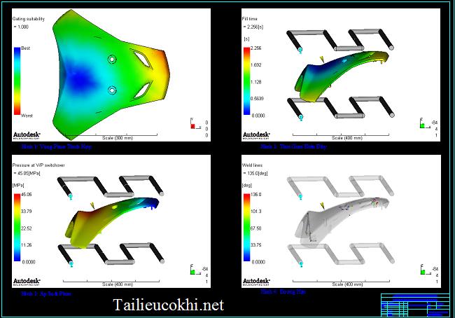 Phân tích moldflow khuôn vỏ xe Wave