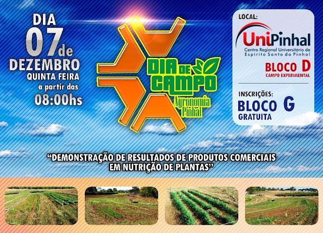 Agronomia da UniPinhal convida todos para o 'Dia de Campo' nesta quinta-feira