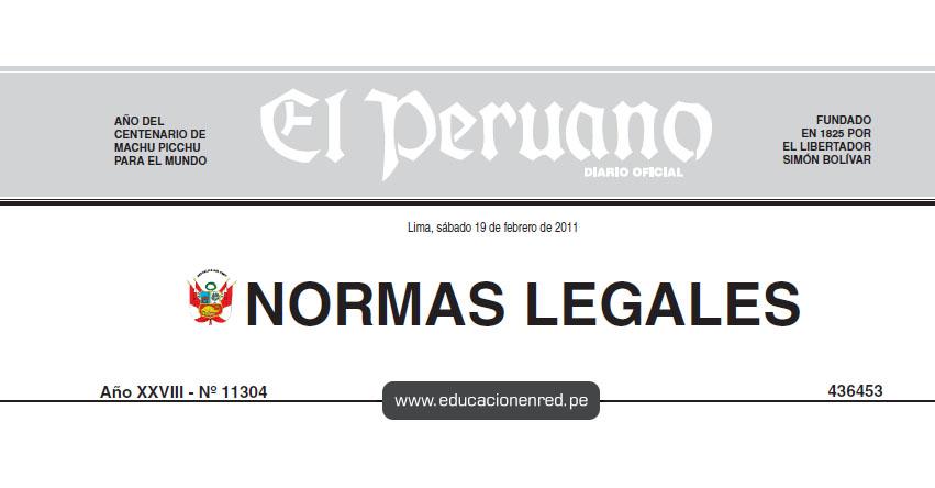 D. S. Nº 011-2011-PCM - Decreto Supremo que aprueba el Reglamento del Libro de Reclamaciones del Código de Protección y Defensa del Consumidor
