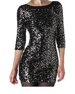 Black Glitter Dress, New Look