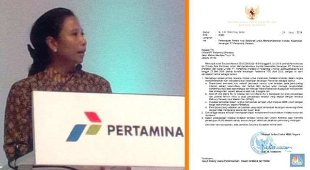 "PARAH! Teken Surat Penjualan Aset Pertamina, Menteri BUMN Rini Soemarno: ""Saya Tidak Ingat"""