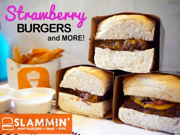 Strawberry Burgers and More at Slammin' Mini Burgers + Fries + Dips