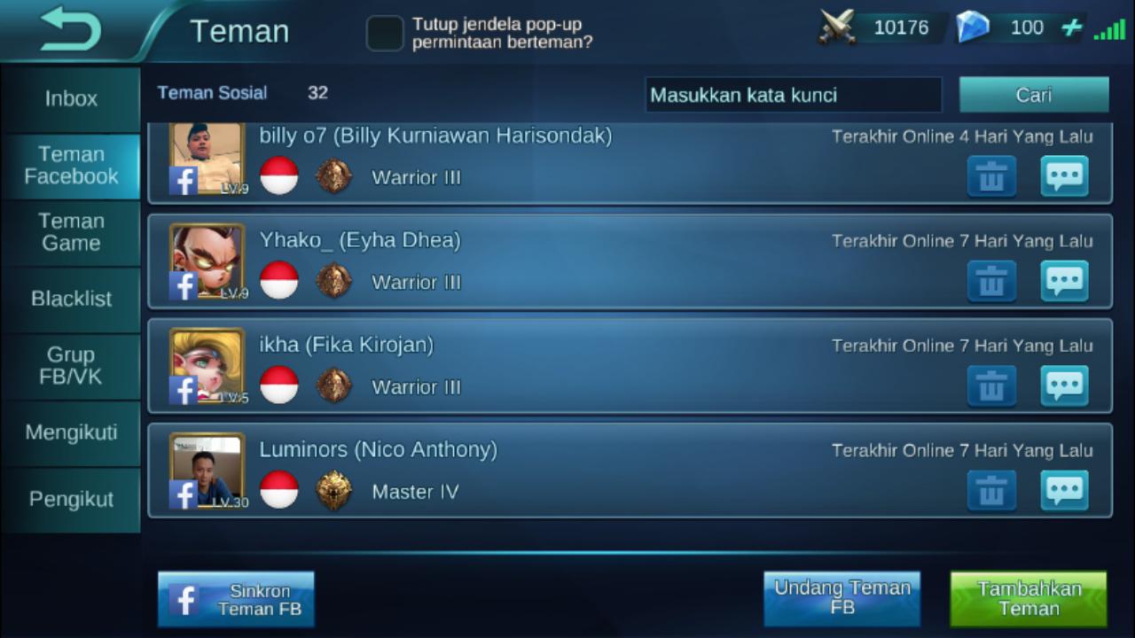 cara bermain mobile legends di android dengan ram 1 gb