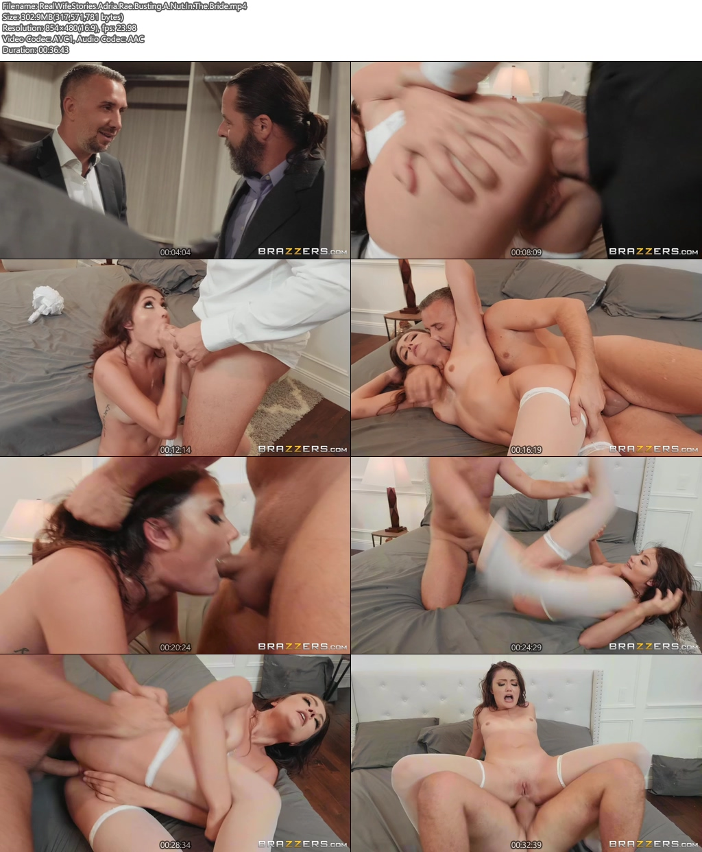 [18+] RealWifeStories New 2019 clip Adria Rae Busting A Nut In The Bride XXX Screenshot