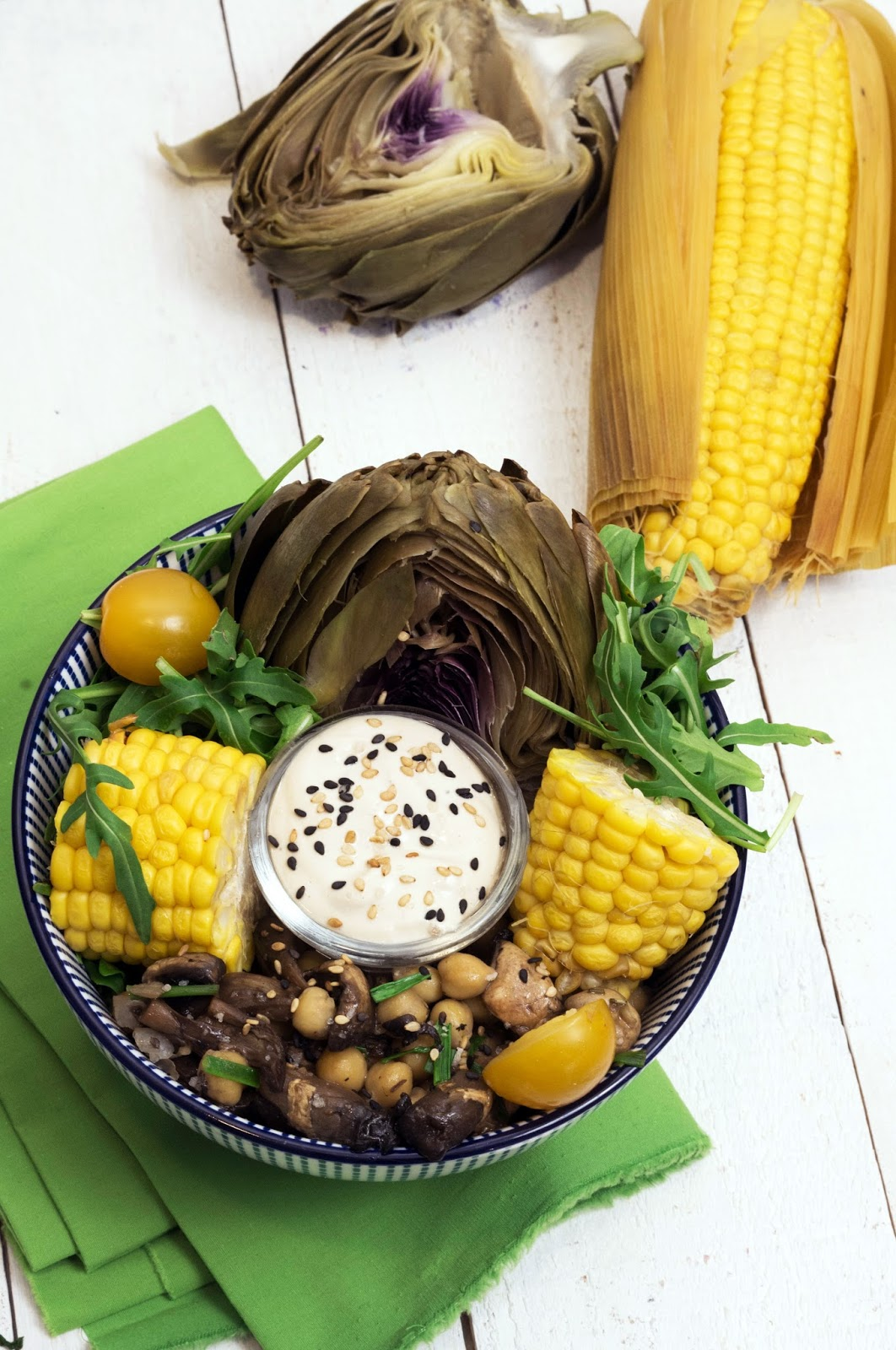 recette salade artichaut et maïs