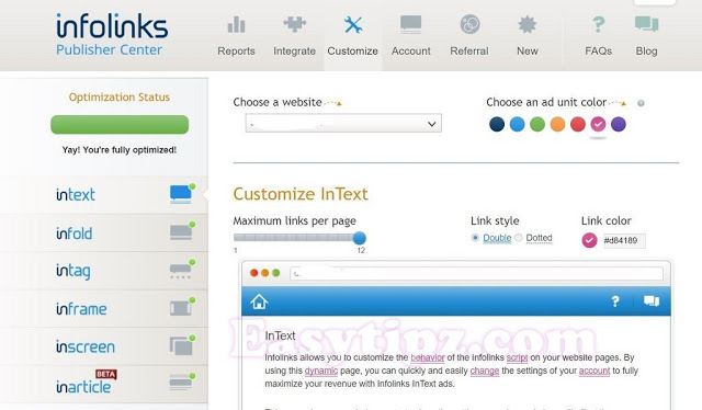 Earn $1000 per month with Infolinks: The best In-Text Advertising network