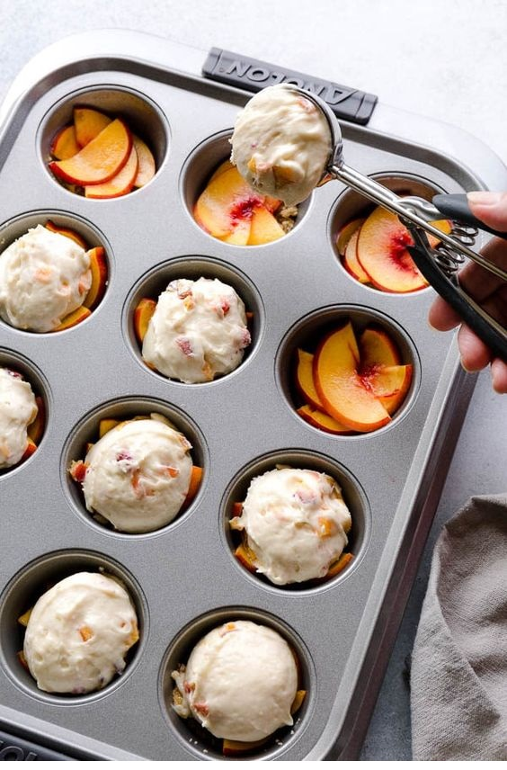 Peach Upside Down Mini Cakes