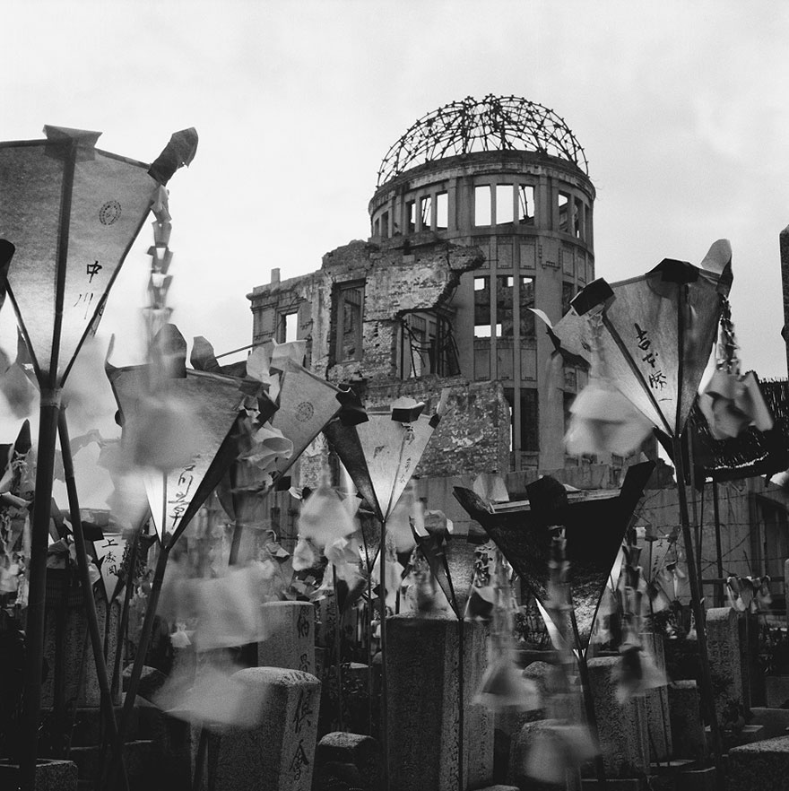 Dome in Hirosima after bombing, 1953 - Japan's First Woman Photo-Journalist, Still Shooting At The Age Of 101, Reveals Her Secret