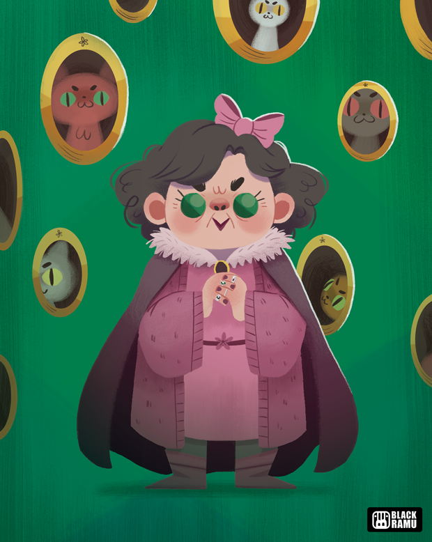 Harry Potter Character Design Challenge Facebook : Black ramu character design challenge dolores umbridge
